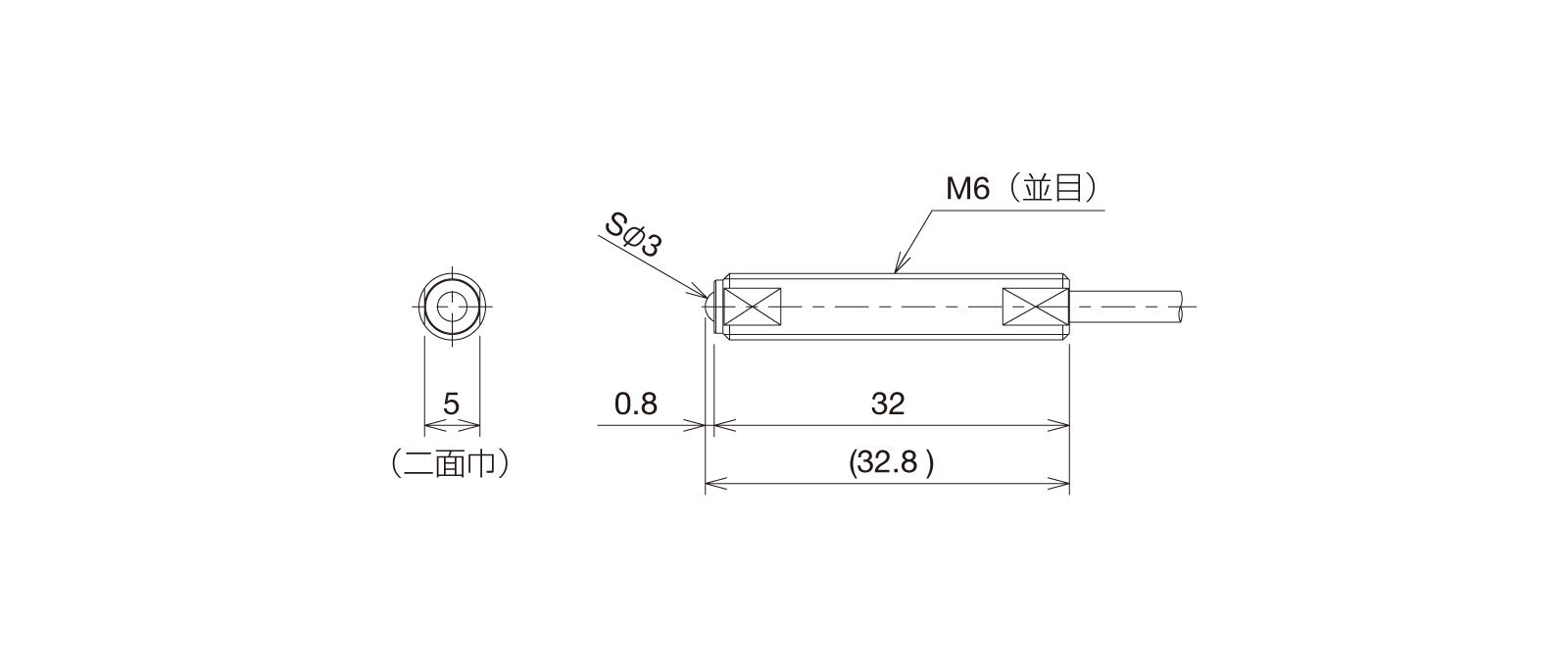 BP060A-LFの外径寸法図1