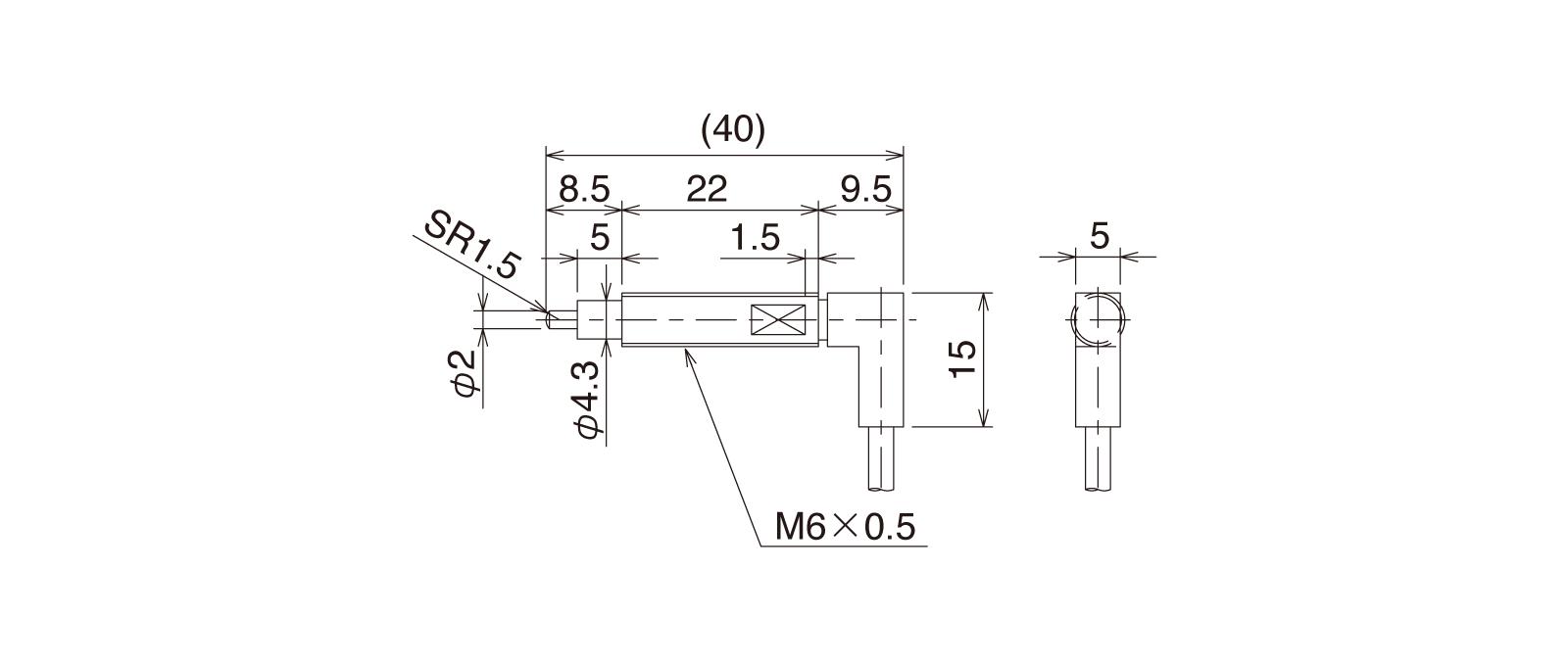 CS065A-Rの外径寸法図1