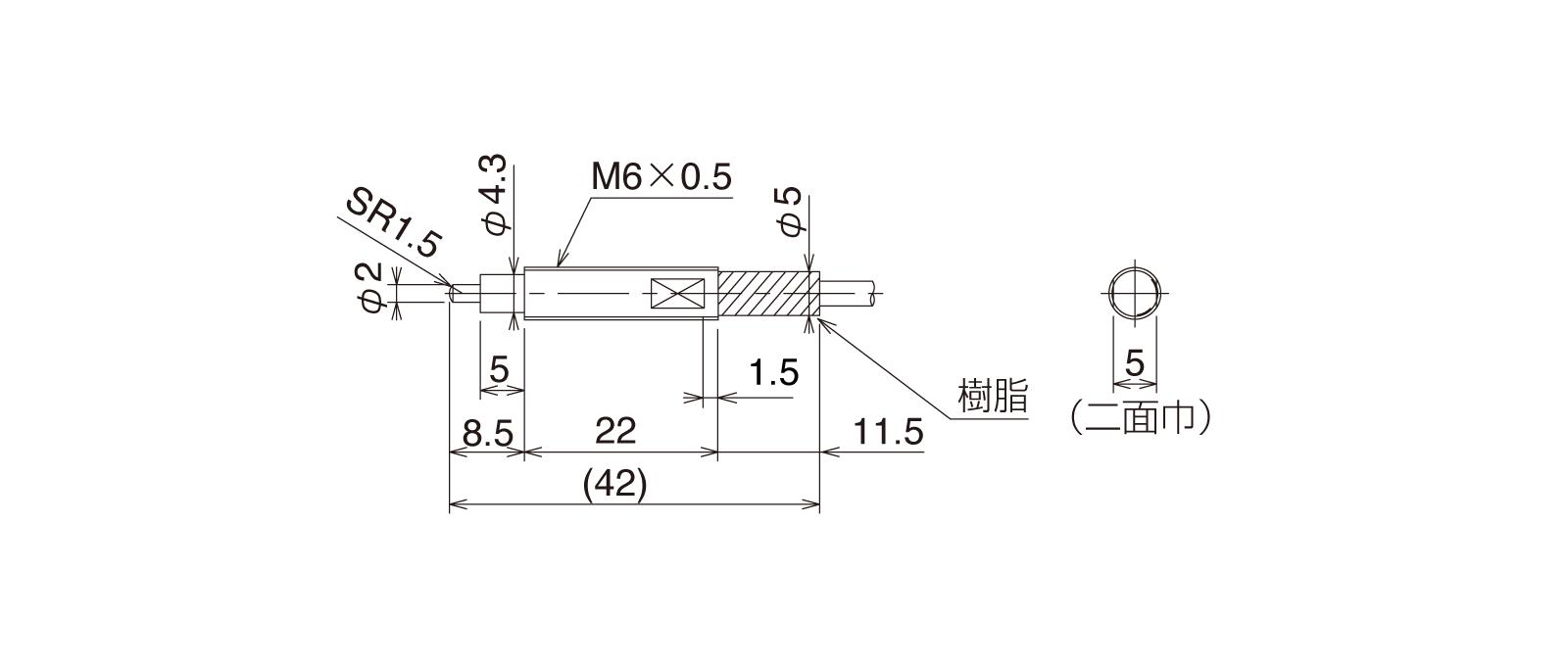 CS065A-Lの外径寸法図1