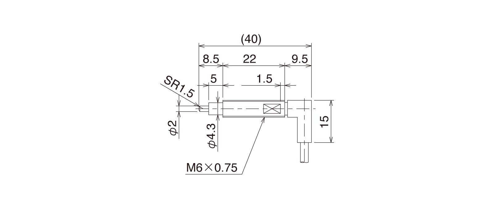 CS067A-Rの外径寸法図1