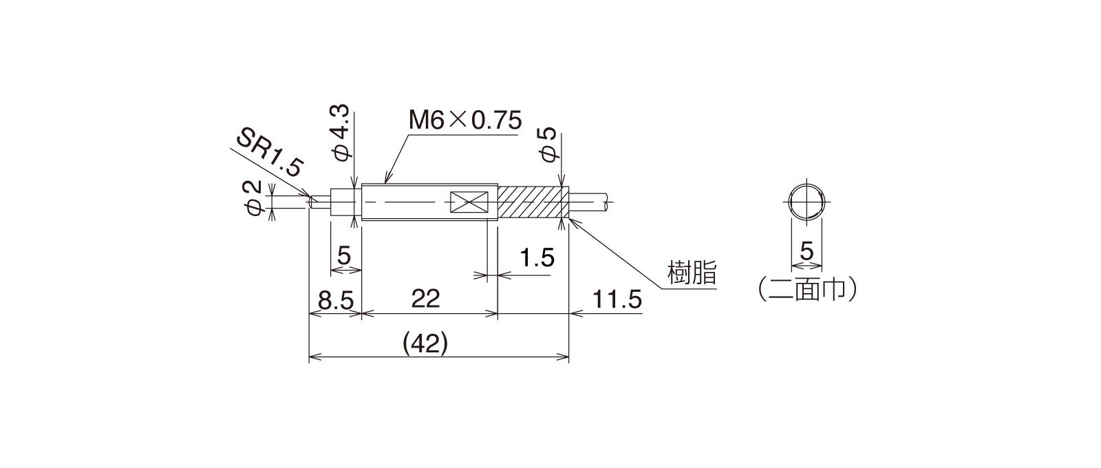 CS067A-Lの外径寸法図1