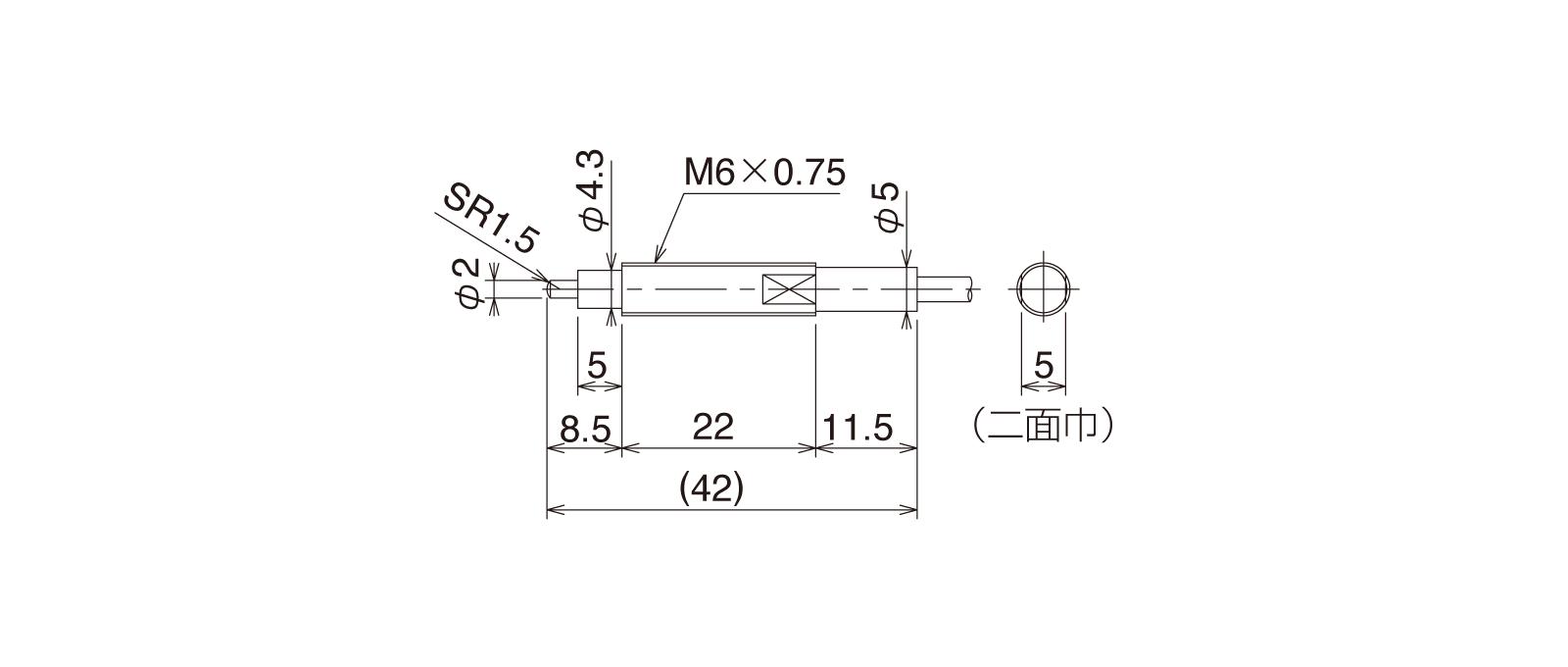 CS067Bの外径寸法図1