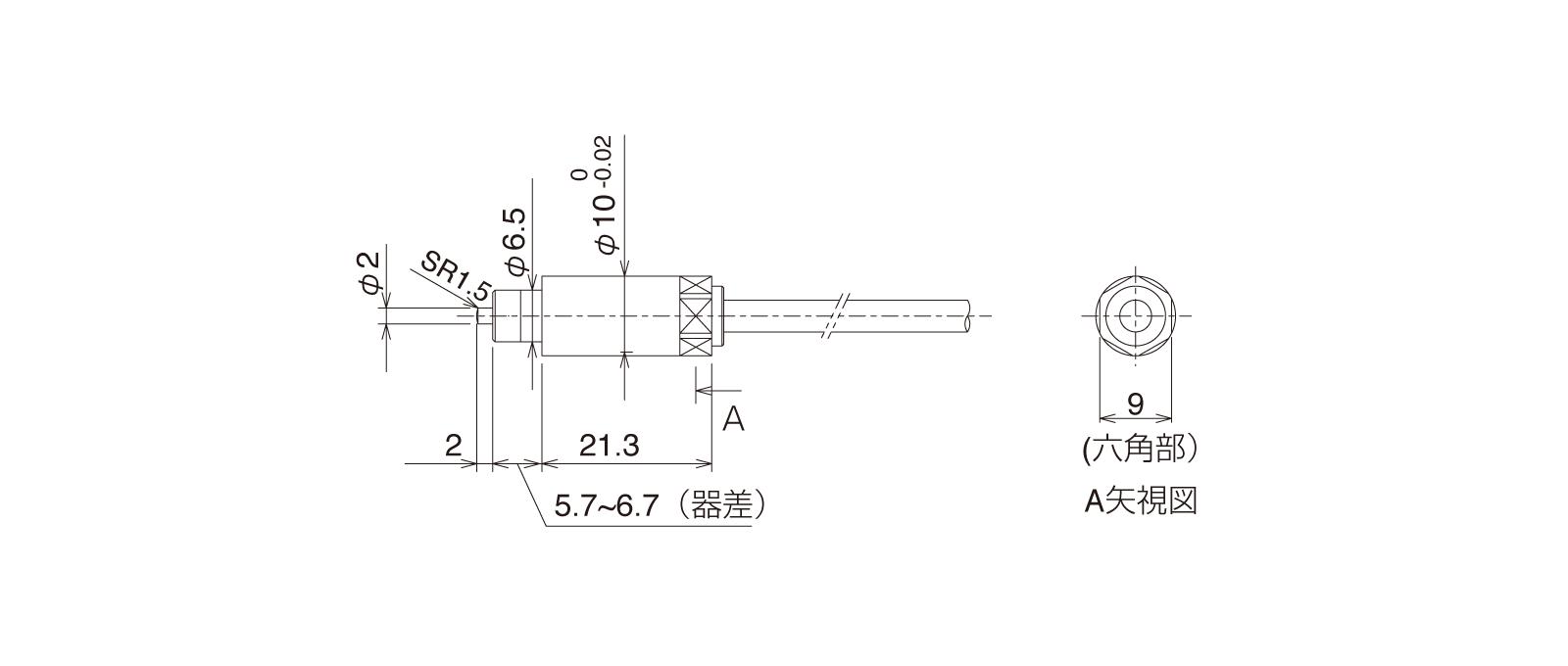 CSFSN10Aの外径寸法図1