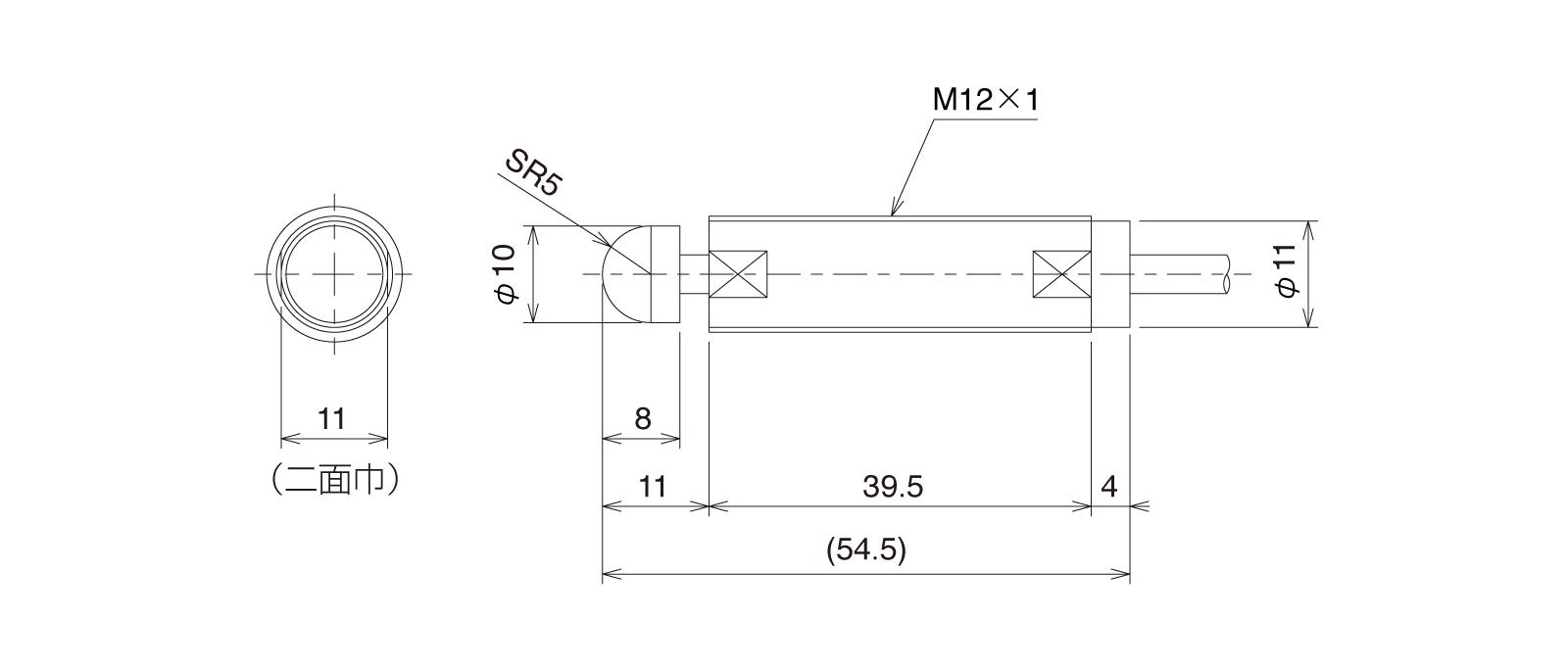 CSH121A-Aの外径寸法図1