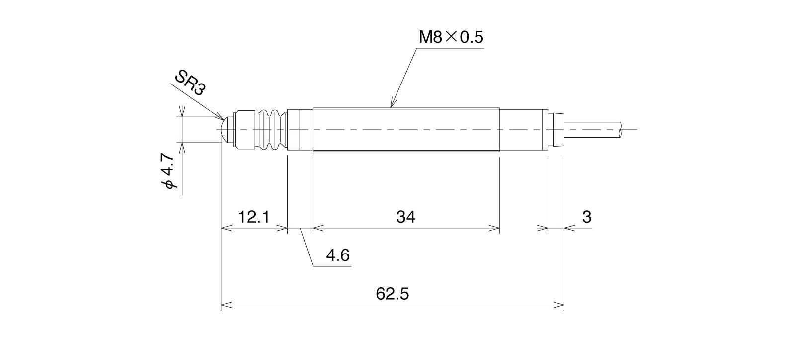 CSHP085B-Lの外径寸法図1