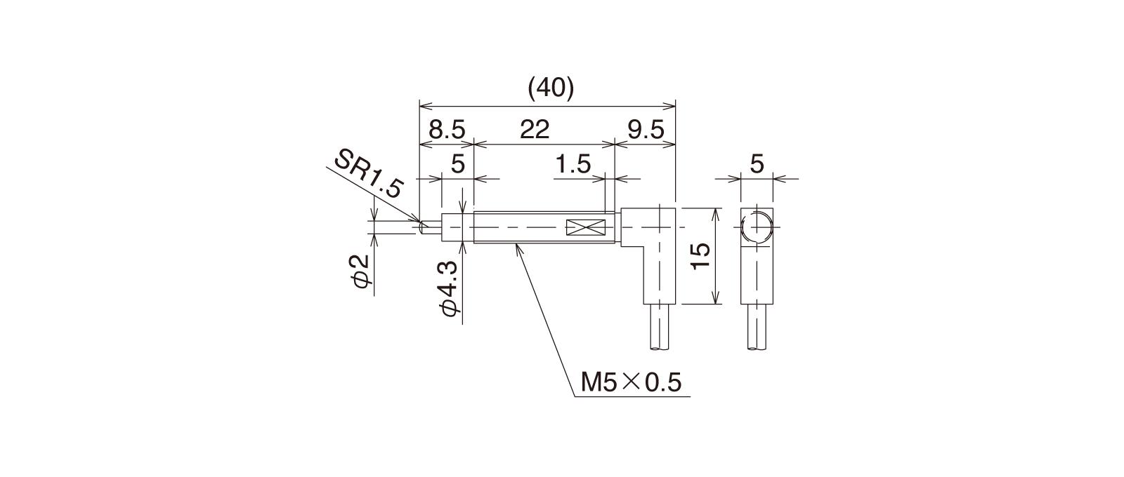 CSJ055A-Rの外径寸法図1
