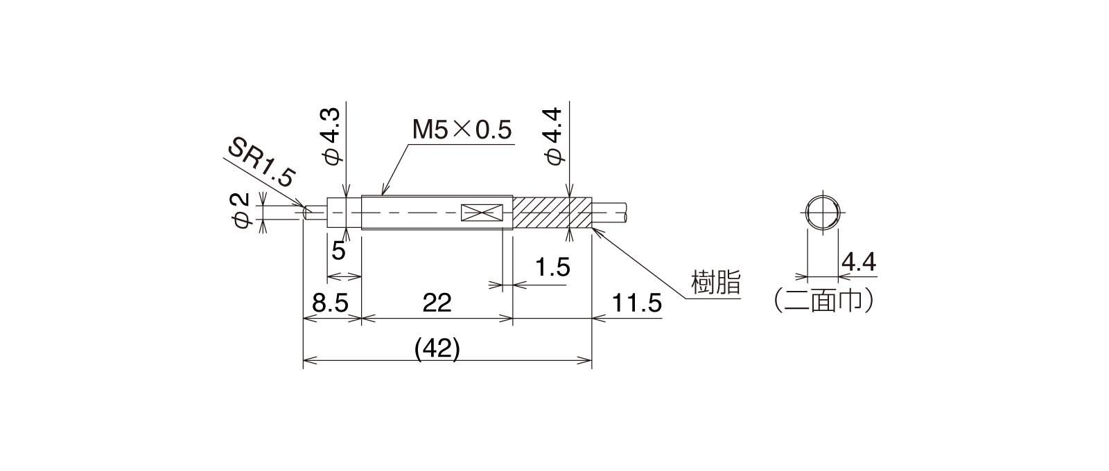 CSJ055A-Lの外径寸法図1