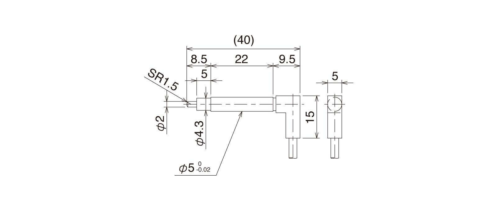 CSJS50A-LRの外径寸法図1