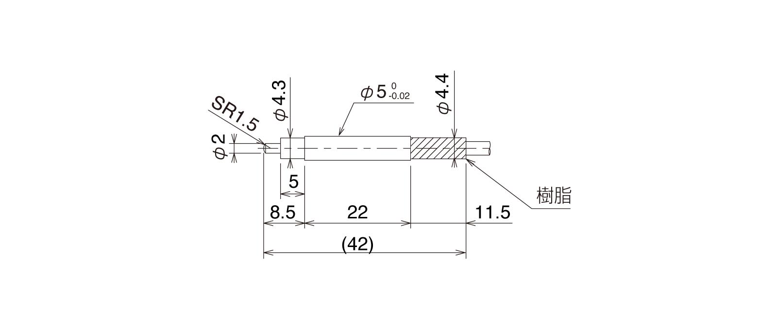 CSJS50A-Lの外径寸法図1