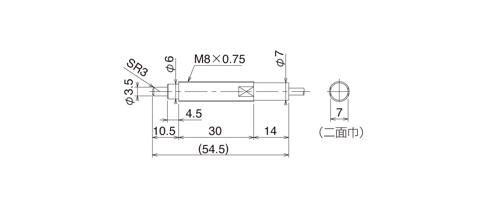 CSK087A-Lの外径寸法図1