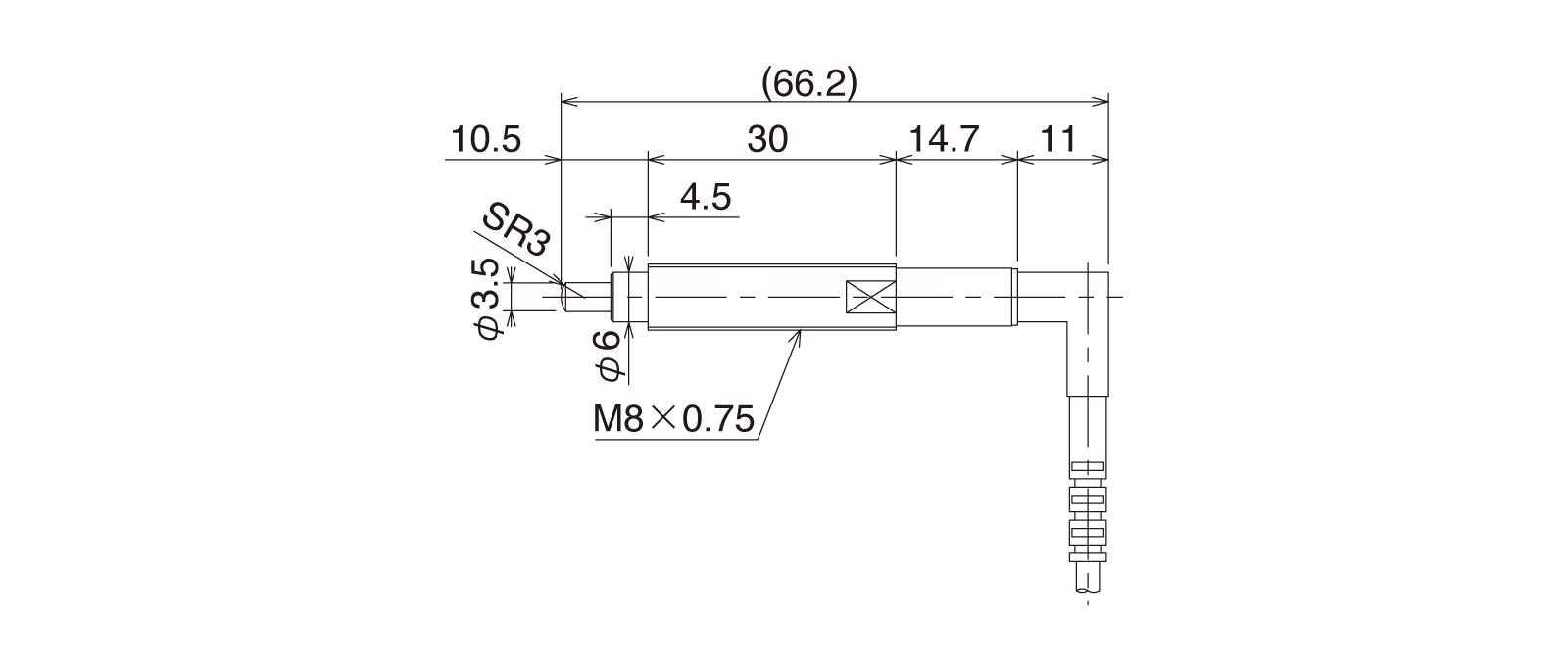 CSK087B-LRの外径寸法図1