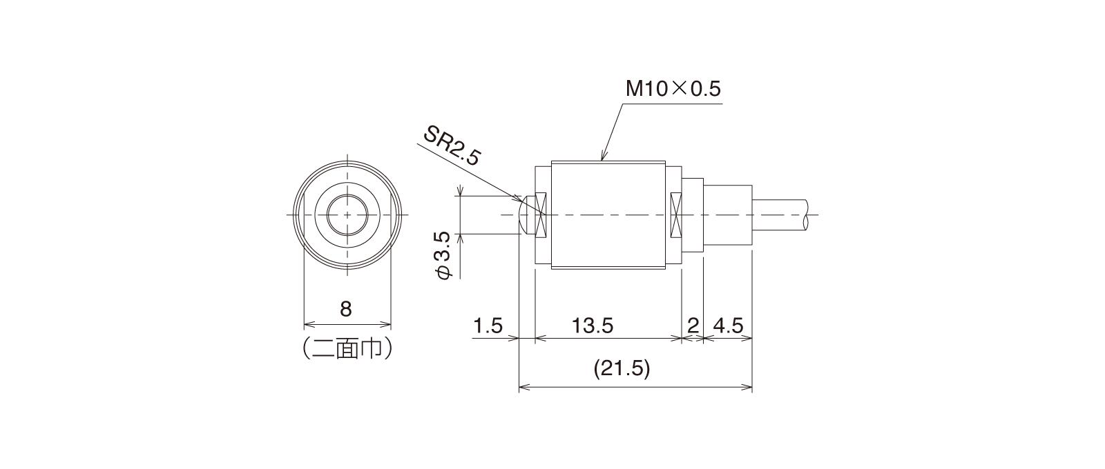 CSM105CAの外径寸法図1
