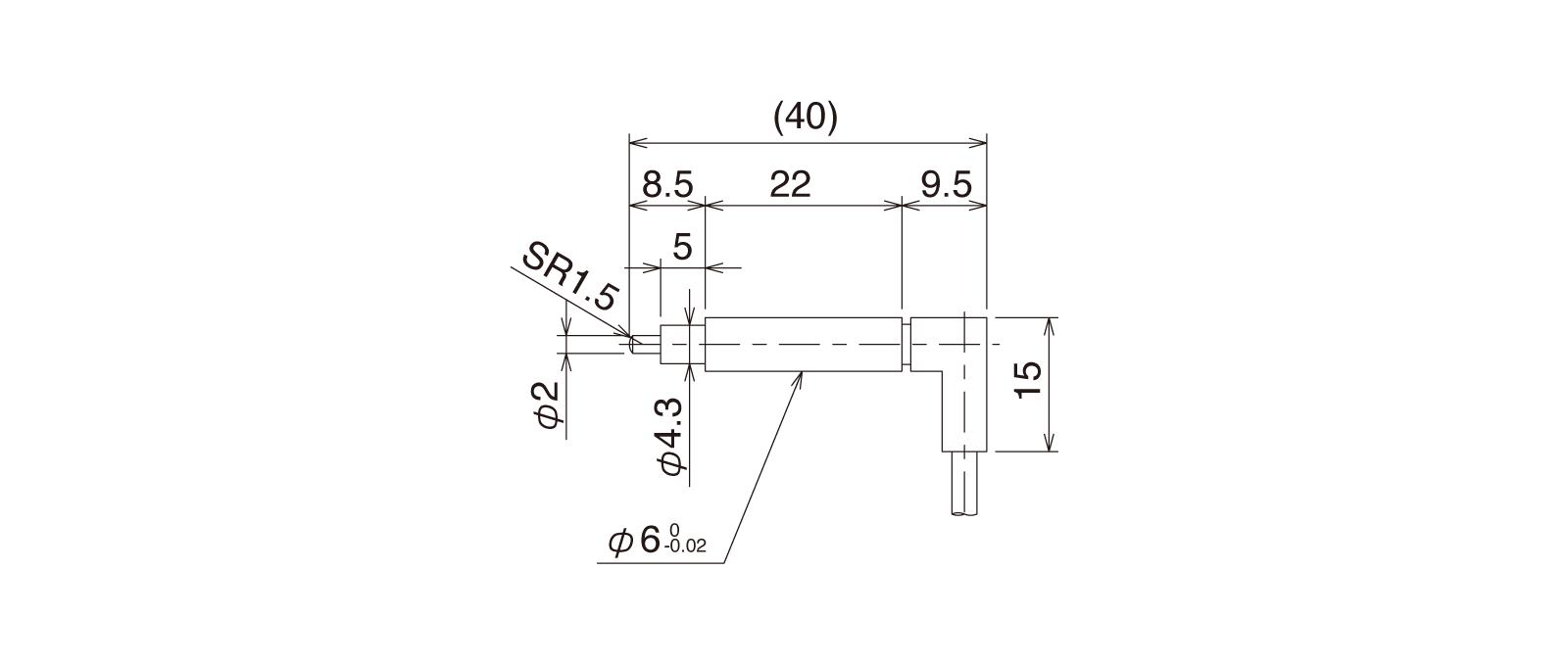 CSS60A-Rの外径寸法図1