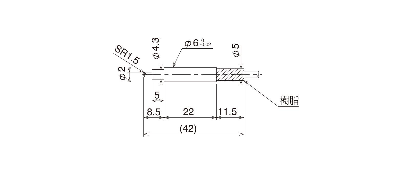 CSS60A-Lの外径寸法図1