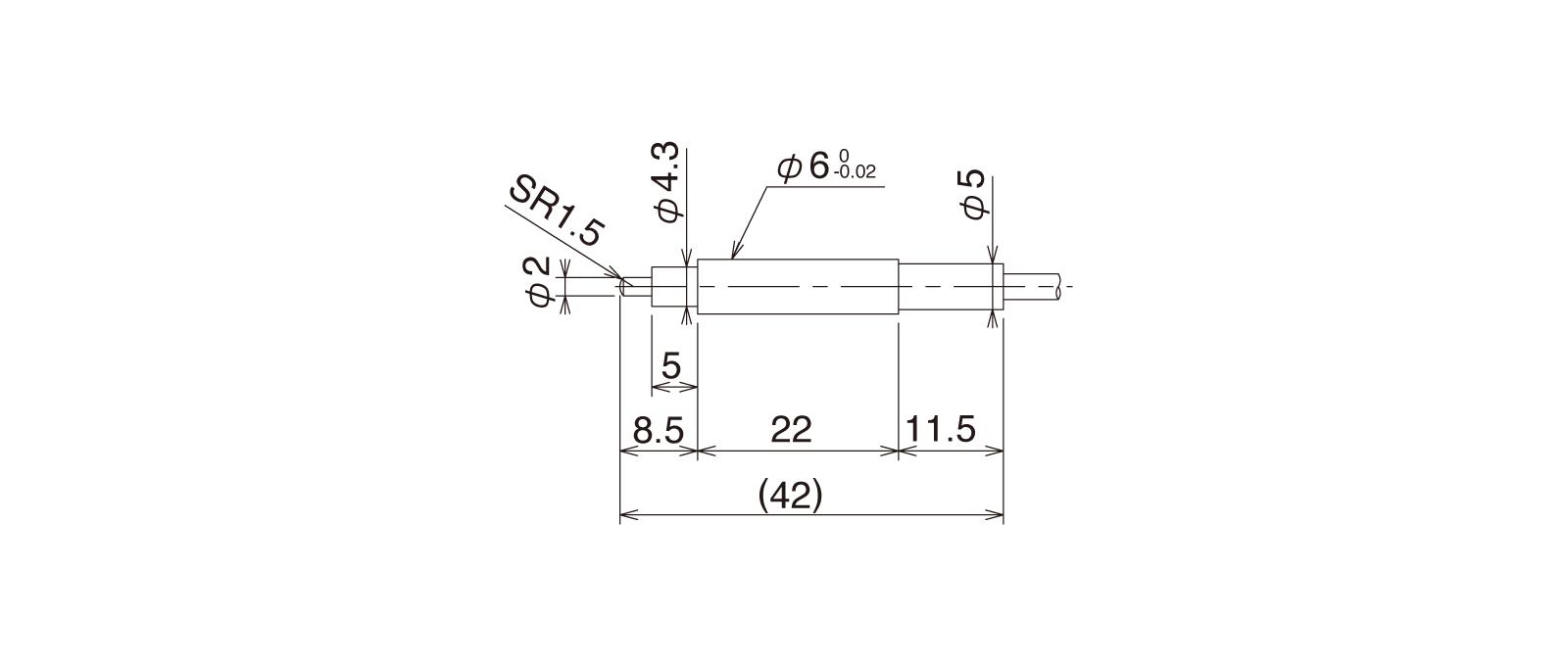 CSS60B-Lの外径寸法図1