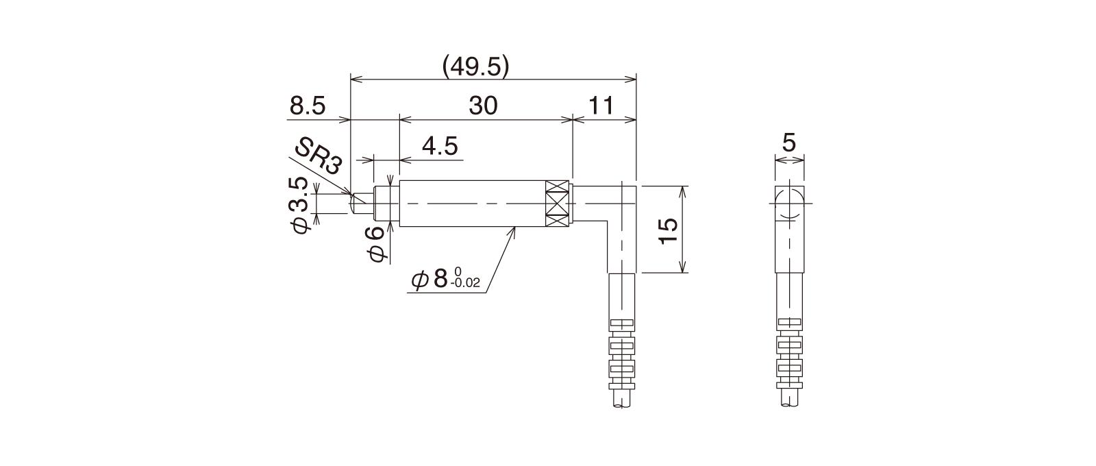 CSS80A-Rの外径寸法図1
