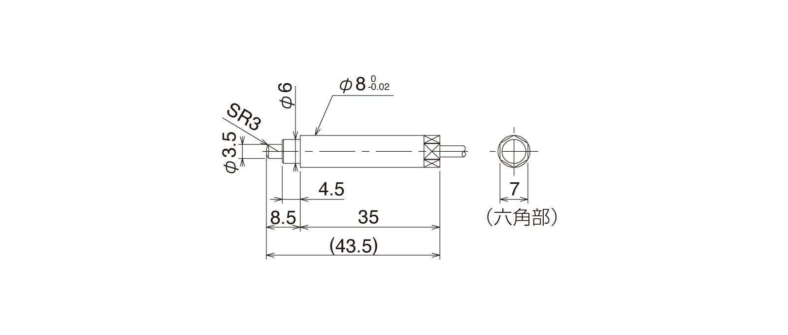 CSS80Aの外径寸法図1