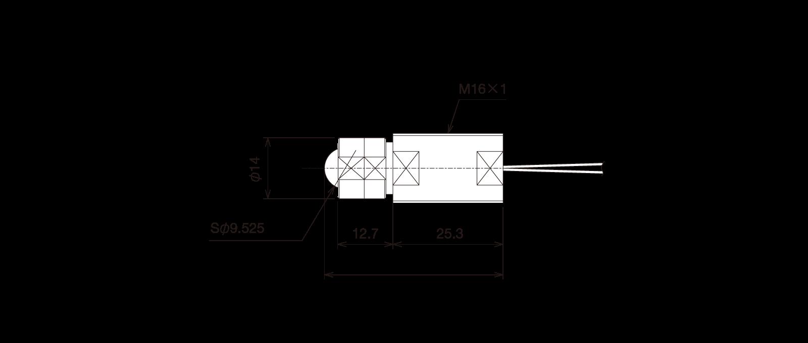 GN-BP161Bの外径寸法図1