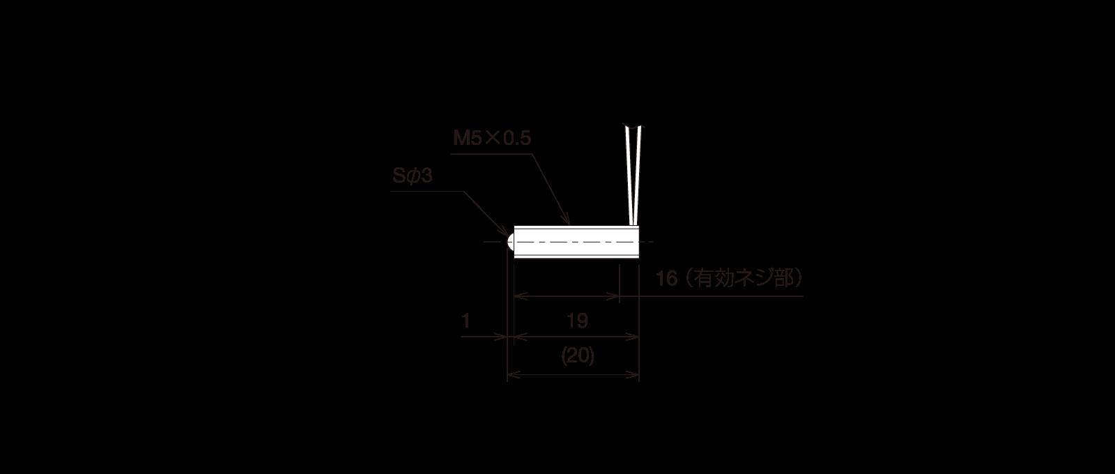 GN-BP5MA-Rの外径寸法図1
