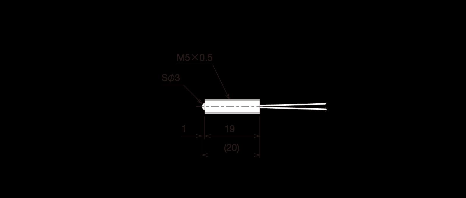 GN-BP5MAの外径寸法図1