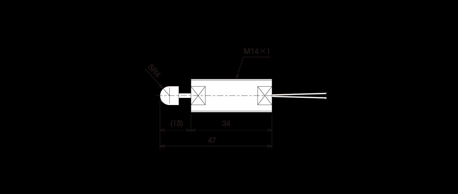 GN-CSK141Bの外径寸法図1