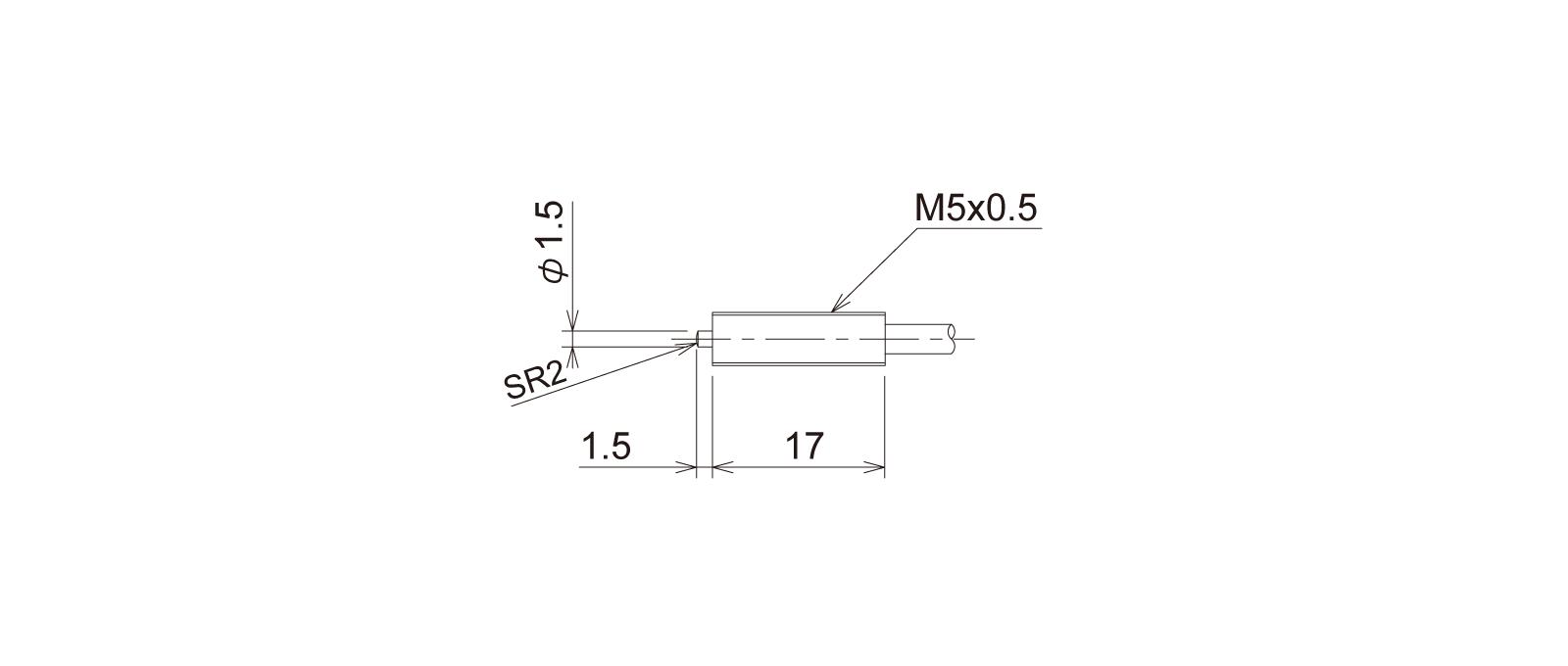PT5M1CB-Lの外径寸法図1