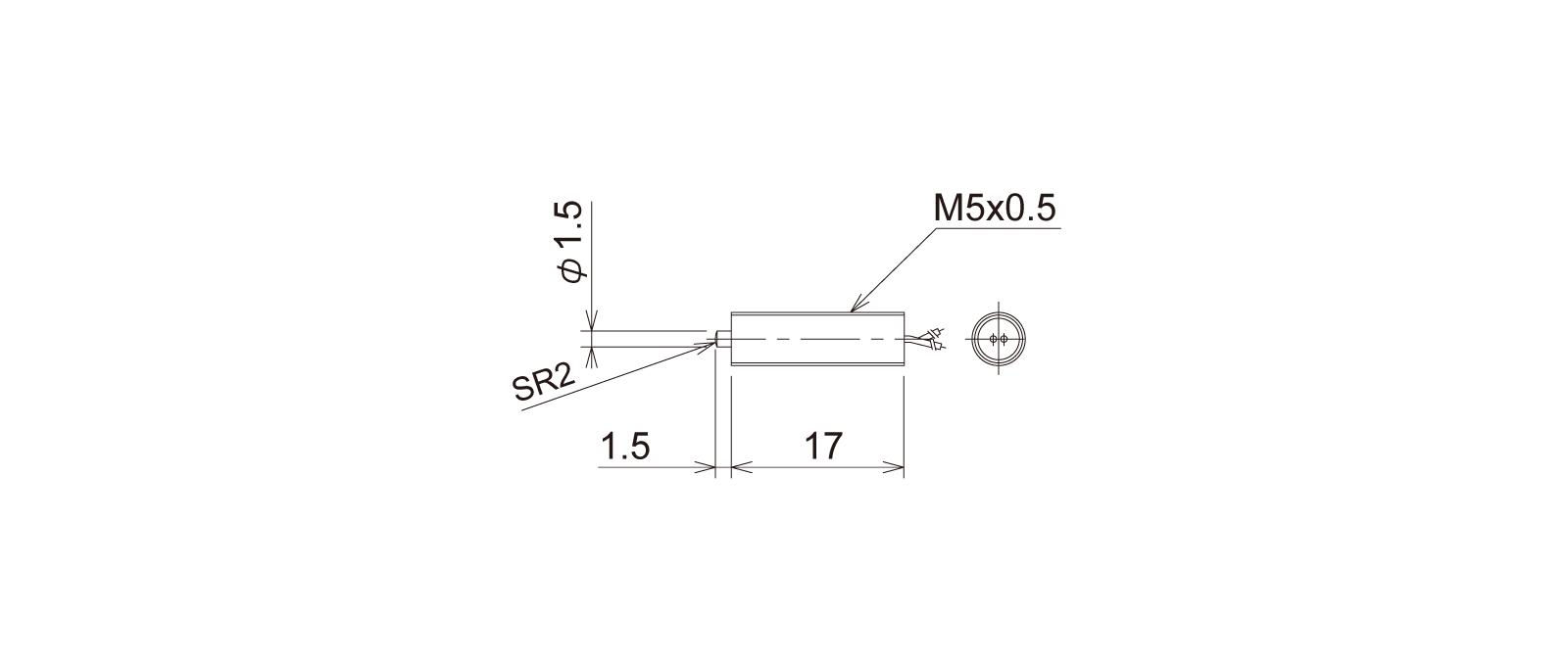 PT5M1WBの外径寸法図1