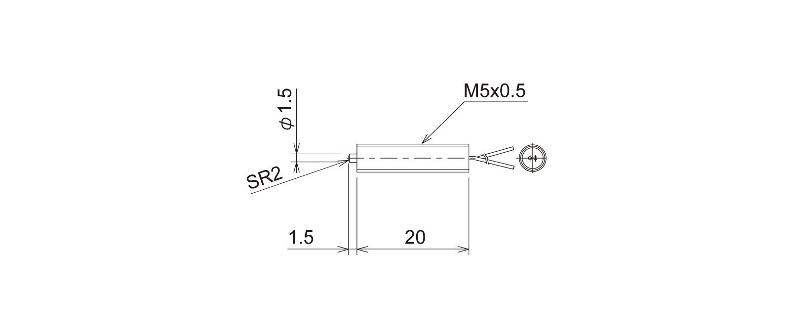 PT5M3WAの外径寸法図1