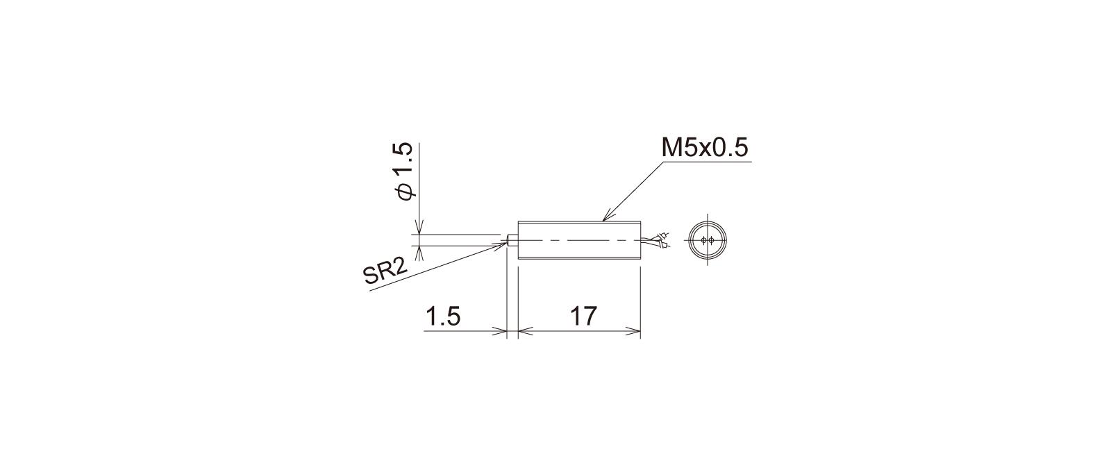 PT5M3WBの外径寸法図1
