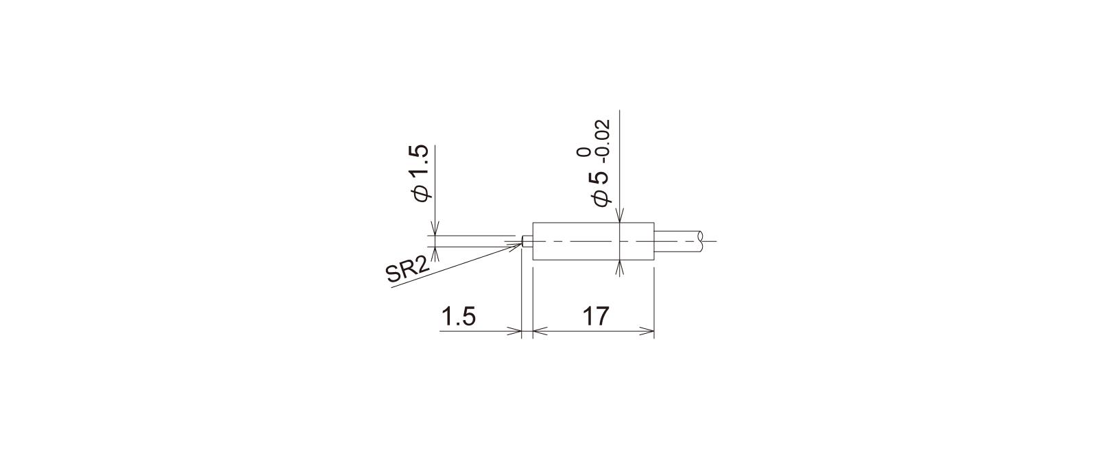 PT5S1CB-Lの外径寸法図1