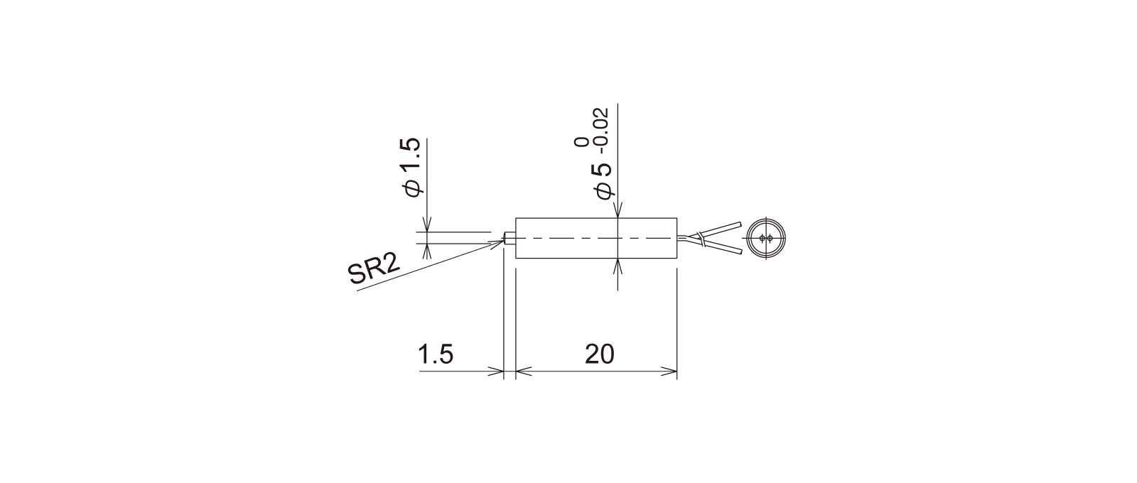 PT5S1WAの外径寸法図1