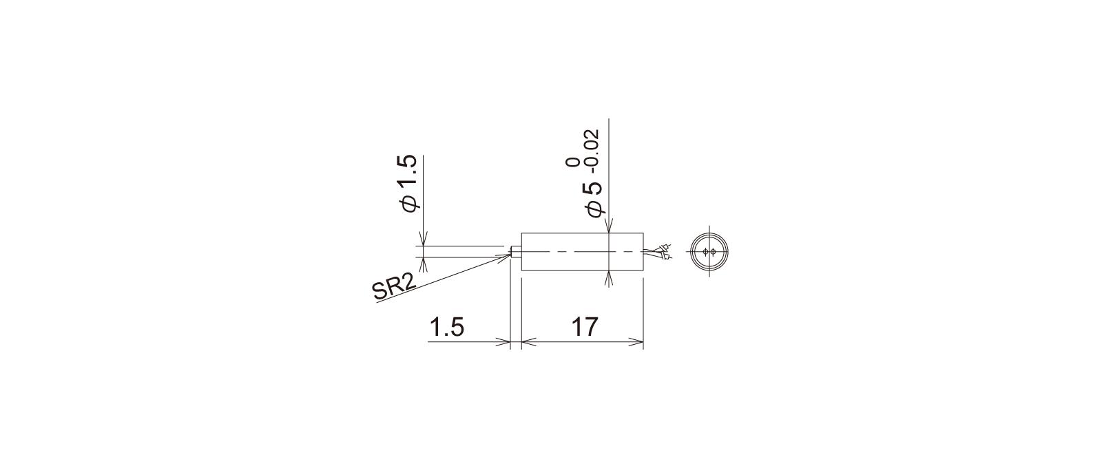 PT5S1WBの外径寸法図1