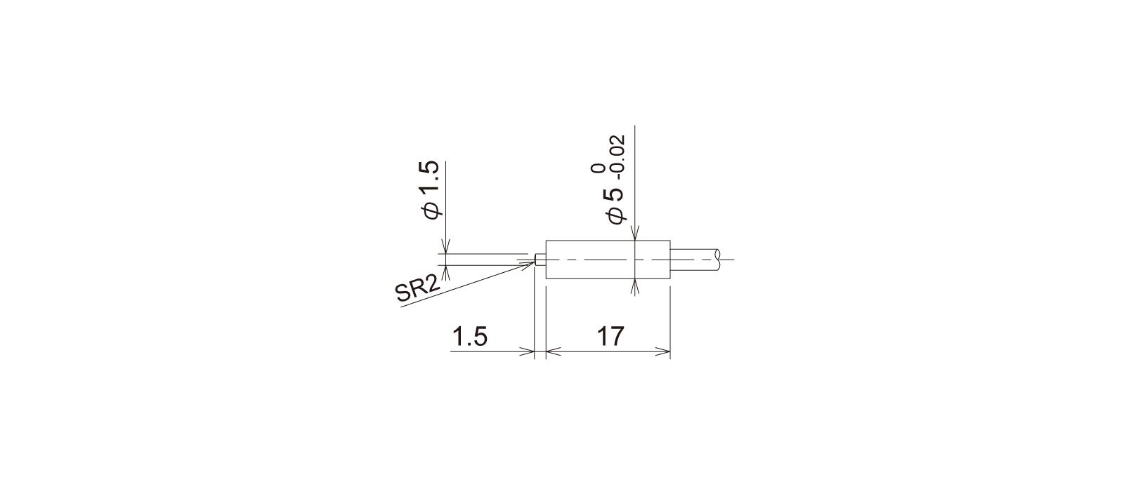 PT5S3CB-Lの外径寸法図1