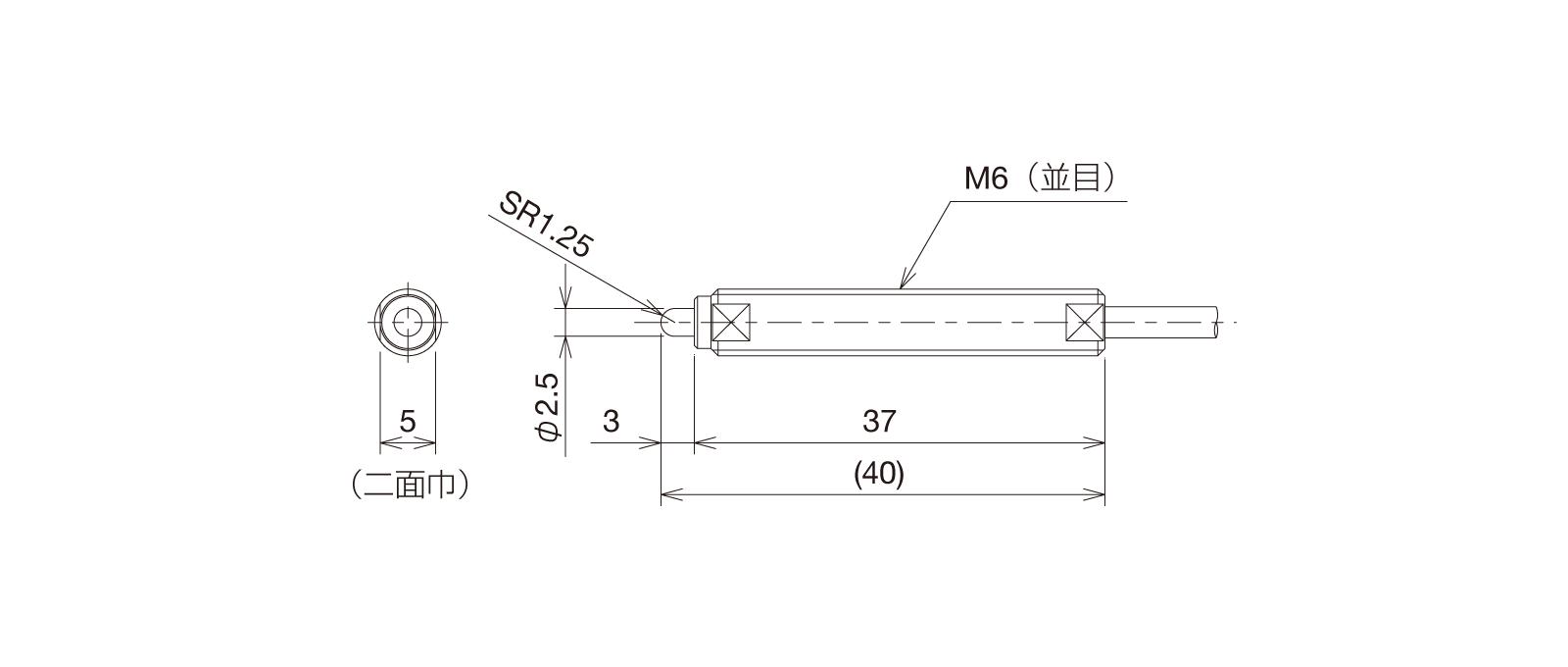 SP060A-Lの外径寸法図1