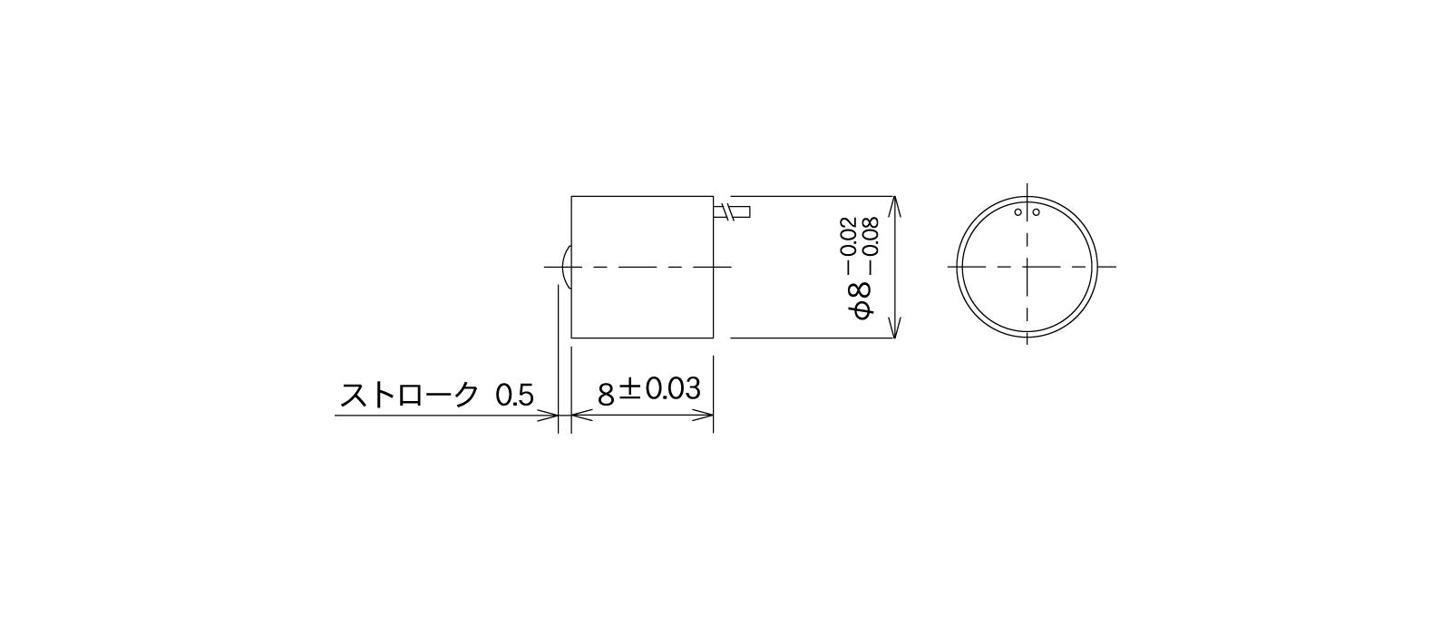 STM11Aの外径寸法図1