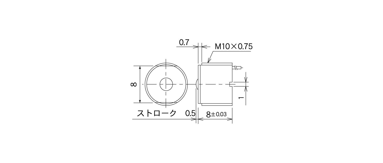 STM31Aの外径寸法図1