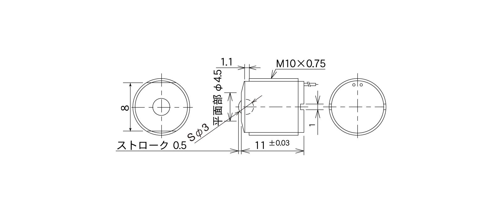 STM35Aの外径寸法図1