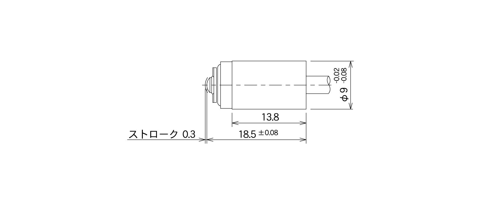 STM62A-Lの外径寸法図1