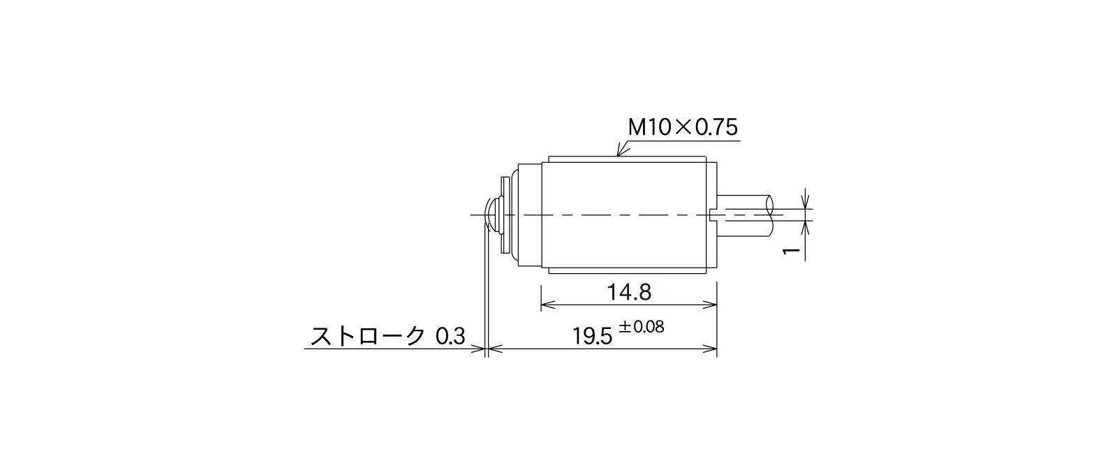 STM82Aの外径寸法図1