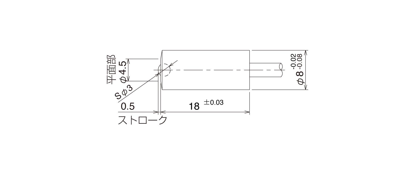 STMB12Aの外径寸法図1