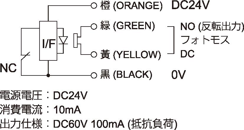 CNC工作機械用 有線式タッチプローブ[K3Eシリーズ]の回路図