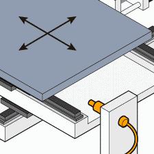 半導体検査テーブルの原点出し